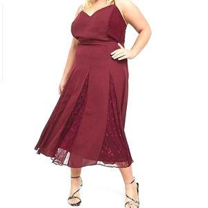 Asos | Curve Cami Midi Dress w/Lace Gadets NWT